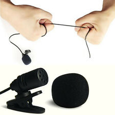 Mini Clip-On Lapel Wired Double Track Microphone MIC For SmartPhones PC