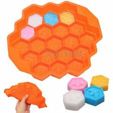 New 19 Cavity Silicone Bee Honeycomb Cake Chocolate Cookie Ice Jelly Mold Mould