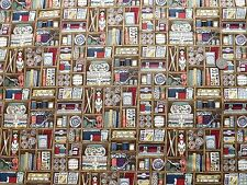Haberdashery Boxes fabric fq 50 x 56 cm Makower 1699 100% Cotton