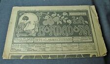 ANTIQUE JULY 10 1928 EMBROIDERY JOURNAL w/ PATTERNS, LACES, ALPHABETS, MONOGRAMS