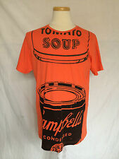 Andy Warhol mens tshirt orange Campbell tomato soup short sleeves size large