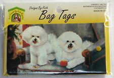 Bichon Frise Bag Tag Silicone Suitcase Travel Luggage Puppies USA Made New Dogs