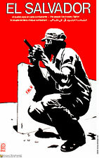 Political cuban POSTER.EL SALVADOR FMLN FREE fighter 72.World Revolution Art