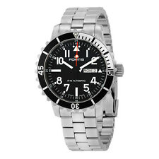 Fortis Marinemaster Automatic Black Dial Stainless Steel  Mens Watch FOR6701741M