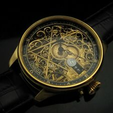 Mens SKELETON 1920's OMEGA FACTORY Vintage GOLD ENGRAVED Watch EXTRAORDINARY!