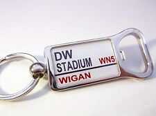 WIGAN WARRIORS STADIUM BADGE STREET SIGN BOTTLE OPENER KEYRING GIFT
