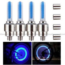 4 x Bike Car Motor Wheel Tyre Tire Valve Cap LED Light Spoke Flashing Lamp Blue