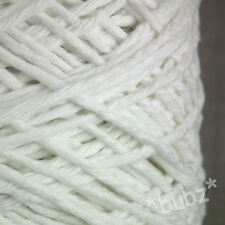 CHUNKY SUPER SOFT OPTIC WHITE PURE COTTON YARN 500g CONE 10 BALLS ARAN KNITTING