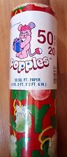 NEW VINTAGE POPPLES GIFT WRAP WRAPPING PAPER CHRISTMAS HOLIDAY 1986 - FREE SHIP!