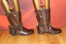 SUPERB BROWN LEATHER SUEDE MISS SIXTY BOOTS  EU 36 *53*