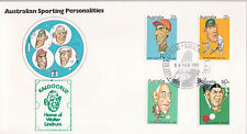 1981 Australian Sporting Personalities FDC  - Home Of Walter Lindrum Cachet