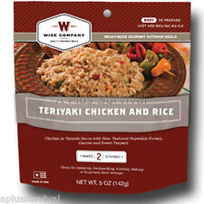 Teriyaki Chicken with Rice - Wise Foods 2 Serving Outdoor Food Rations Pouch