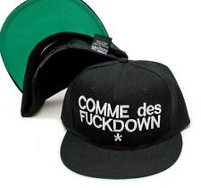 New COMME des FUCKDOWN Snapback Flat Bill Old School Hat Cap Baseball