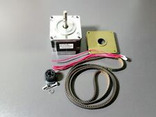 "Nema 23 Stepper 24V 2A Motor Mill Robot Lathe RepRap + Pulley & 41"" Timing Belt"