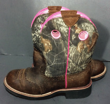 Ariat Fatbaby Green & Brown Camouflage Cowgirl Western Boots Women's Sz 10