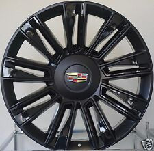 "24"" 2016 Cadillac Escalade Rims Black/ Gloss Inserts Platinum ESV EXT Wheels"