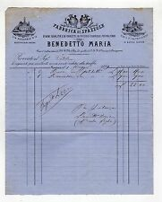 fattura antica - BENEDETTO MARIA SPAZZOLE 1879
