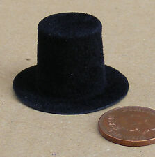 1:12 Scale Black Stove Hat Dolls House Miniature Clothing Accessory