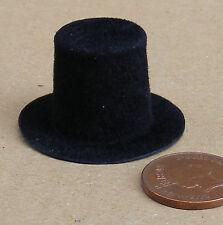 1:12 SCALA Cappello Nero STUFA CASA delle Bambole Miniatura Accessorio di abbigliamento