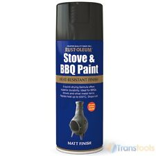 Rust-Oleum Heat Resistant Matt Black Spray Paint BBQ Barbecues Stoves Exhausts