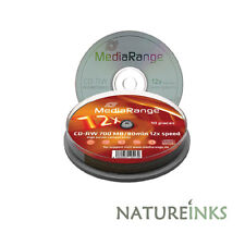 10 MediaRange CD-RW 12x rewritable blank discs CD RW High / Ultra burn speed