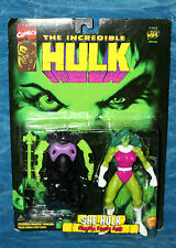 Marvel She Hulk Gamma Cross Bow Action Figure Toy Biz 1996