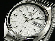 Seiko 5 Men's SNXF05K1 Stainless Steel Automatic Day Date Watch