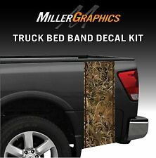 Grassland Hunting Camo Truck Bed Band Decal Graphic Sticker Kit