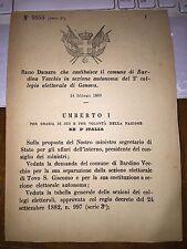 REGIO DECRETO COST COMUNE BARDINO VECCHIO, SEP da TOVO S. GIACOMO, sez el GENOVA