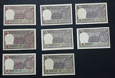 1 Rupee M G KAUL short signature set (A28-A35) all 8 issues in UNC condition