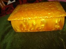 VINTAGE OLD CATALIN JEWELRY CATALIN BOX ROYAL AMBER CATALIN BOX