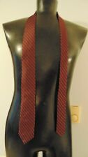 NEW Calvin Klein Burgundy Silk Neck Tie Diagonal Stripe Design