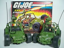 K163509 AWE STRIKER SET PAIR MIB & LOOSE MINT IN BOX GI JOE ORIGINAL CRANKCASE