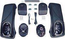 J&M Rokker XX 5x7 Rear Speakers Saddlebag Speaker Kit Lids Harley Touring Bagger