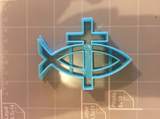 Christian Fish and Cross Cookie Cutter