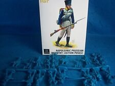 HAT#9318 Napoleonic PRUSSIAN Inf. (Action Poses) Toy Soldiers,(54MM) 18 figures