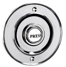 Cromo Pulido Y Porcelana Circular estilo victoriano puerta campana Push Switch (bc1418)