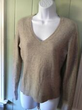 ANN TAYLOR Light Gray Cashmere Sweater V-NECK SWEATER Size S Style 130053
