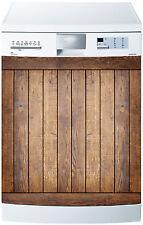 Sticker lave vaisselle déco cuisine électroménager Bois réf 604 60x60cm