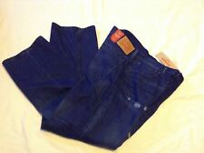 Men's NWT Dark Blue Distressed 569 Loose Straight Levi's Jeans 34x33