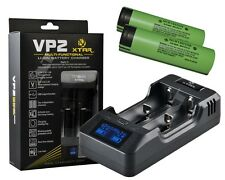 Xtar VP2 - Lithium Ionen Ladegerät + 2x Panasonic NCR18650B (3400mAh)