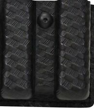 Safariland Slimline Open Top Double Mag Pouch Black STX Basket Weave BL 79-83-48