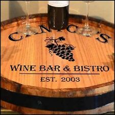 Wine Bar & Bistro - Personalized Quarter Barrel Lazy Susan, Home or Bar