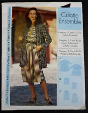 Sewing Step By Step Pattern 161 Culotte Ensemble Sz 4-22 Bust 29.5-44 Uncut