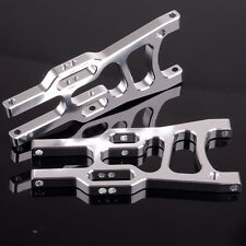 For HSP 1/10 Off-Road Buggy 106019 (06011) Silver Front Lower Suspension Arm 2P