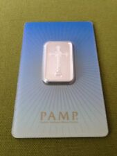 NEW PAMP SUISSE 10g SILVER BAR RELIGIOUS DESIGN .999 Romanesque Cross Ships Now