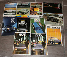 (Lot 3) 11 CATALOGUES PEUGEOT 505 V6 Turbo injection Break etc
