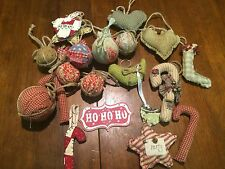 20 Country Cottage Chic Christmas Ornaments Farm House Decor