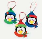 3 Penguin Foam Ornaments Craft Kit Christmas Gift Kid