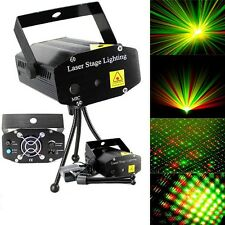 Black Mini Projector DJ Disco Light Stage R&G Party Laser Lighting Show Plu